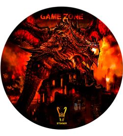 Alfombra gaming Woxter stinger floorpad roja - diámetro 120cm - microfibra GM26-066 - GM26-066