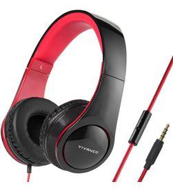 Auricular micro 108db Vivanco 37572 negro/rojo Auriculares - 37572