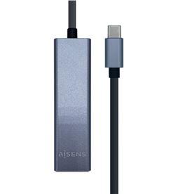 Aisens A109-0396 hub usb gris + adaptador lan - 1*usb tipo-c macho / conec - AIS-HUB A109-0396
