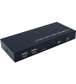 Aisens A111-0400 kvm negro - 2 ordenadores con un solo teclado / ratón / mo - AIS-KVM A111-0400