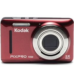 Cámara digital Kodak pixpro fz53 roja - 16mpx - lcd 2.7''/6.82cm - zoom 5x o FZ53RD - KOD-CAMARA FZ53RD