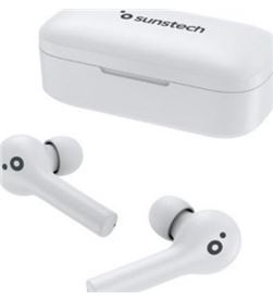 Auriculares bluetooth Sunstech wavepods touch white - bt 5.0 tws - ipx5 - b WAVEPODSTOUCHWT - 8429015019241
