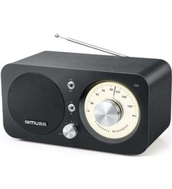 Muse M-095BT negro radio analógica fm con altavoz integrado 5w y bluetooth - +22170