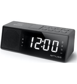 Muse M-172 BT negro radio digital sobremesa fm snooze con bluetooth y carga - +22166