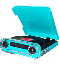Lauson 01TT15 AZUL tocadiscos vintage 3 velocidades bluetooth usb grabación - +21553