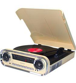 Lauson 01TT15 CREMA tocadiscos vintage 3 velocidades bluetooth usb grabació - +21551