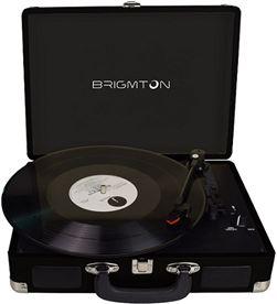 Tocadiscos portátil grabador Brigmton negro BRIBTC_404_N - BTC 404 N