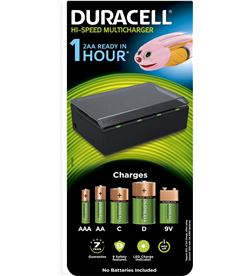 Duracell CEF22-EU cargador de pilas - carga 4 pilas simultaneas tipo aaire acondicionado aa - DRC-BAT CEF22-EU