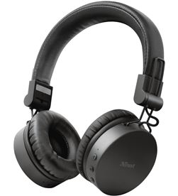 Auriculares bluetooth trust tones black - dRivers 40mm - micrófono integrad 23551 - TRU-AUR 23551