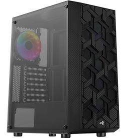 Aerocool HIVEBK caja semitorre - 2*usb3.0 - usb2.0 - hd audio+mic - panel l - AER-CAJA HIVEBK