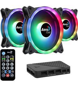 Aerocool DUO12PRO pack 3 ventiladores 12 dúo pro + h66f hub + mando a distancia - 12 - AER-REF DUO12PRO