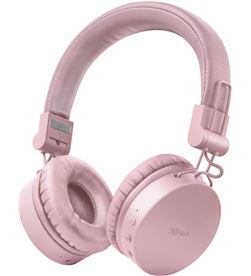 Trust 23910 auriculares bluetooth tones pink - drivers 40mm - batería recargable - TRU-AUR 23910