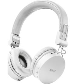 Trust 23909 auriculares bluetooth tones white - drivers 40mm - batería recargable - TRU-AUR 23909