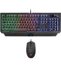Pack Mars gaming MCP100 - teclado con tecnología h-mechanical red - ratón 3 - TAC-PACK MCP100