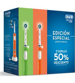 Cepillo dental Braun oral-b pro600 duo naranja + verde PRO600DUO - 4210201306085