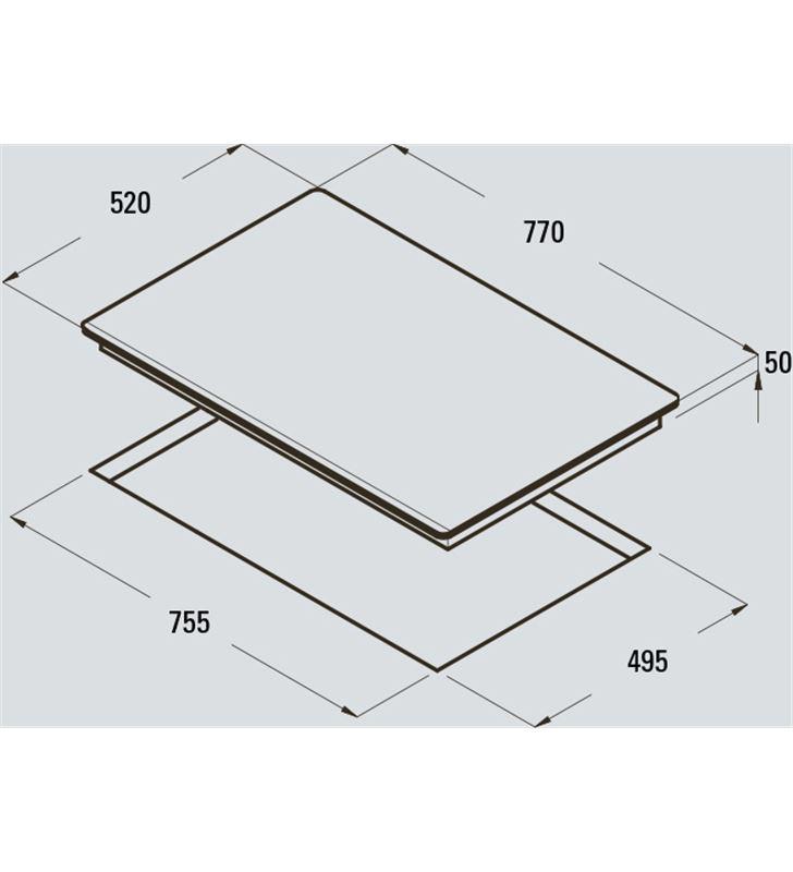 Cata 08026001 placa induccion giga750 3f biselada Vitrocerámicas - 18160561_8629