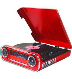 Lauson 01TT15 ROJO tocadiscos vintage 3 velocidades bluetooth usb grabación - +21552