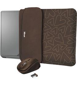 Pack Trust yvo corazones marron 23446 - funda reversible de portatil 15.6'' - TRU-PACK 23446