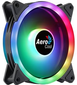 Ventilador Aerocool DUO12 - 12cm - 28 leds - iluminación led rgb dual ring - AER-REF DUO12