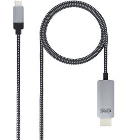 Nanocable -CAB 10 15 5102 cable conversor 10.15.5102/ usb tipo-c macho - hdmi macho/ 1.8m/ - NAN-CAB 10 15 5102