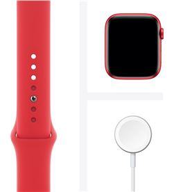 Apple watch s6 44mm gps caja aluminio roja con correa roja sport band - m00 M00M3TY/A - 85936626_8525662166