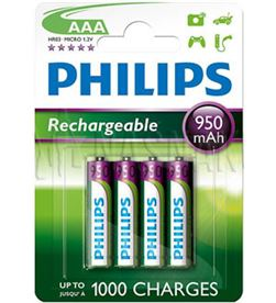 Piles rec Philips 1.2v ( aaa ) R03B4A95/10 950m Cables - R03B4A95-10