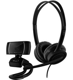 Pack 2 en 1 Trust doba home office set - webcam hd 720p - auriculares con m 24036 - 24036