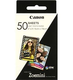 Canon 3215C002 50 hojas papel fotográfico adhesivo zink para zoe mini - 2*3''/5*7.6 - CAN-PAPEL 3215C002