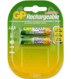 Todoelectro.es gp pila recargable lr03 aaa 1.2v ni-mh 1000mah blister de 2 unidades lr03 aaa 1000ma - +20529