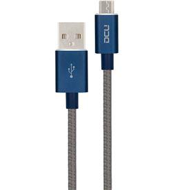 Todoelectro.es 30401280 dcu cable azul gris conexión usb a micro usb 1m - +98361