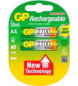 Gp LR06 AA 2700MAH pila recargable lr06 aa 1.2v ni-mh 2700mah blister de 2 unidades - +20530