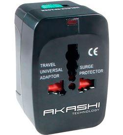 Todoelectro.es ALTWP200BLK akashi adaptador universal de voltaje con 2 usb compatible con - +20929