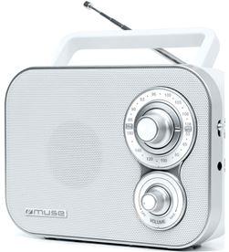 Muse M-051 RW blanco radio analógica fm/am con altavoz integrado - +21468