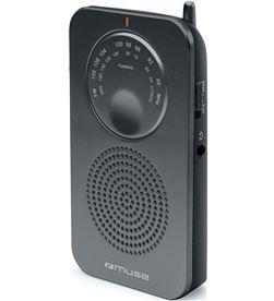 Muse M-01 RS negro radio analógica de bolsillo fm/am con altavoz integrado - +21461