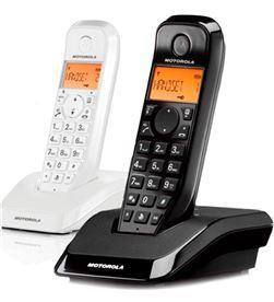 Motorola s1202 blanco negro duo teléfono inalámbrico contestador automático S1202 DUO BLANC - +96918