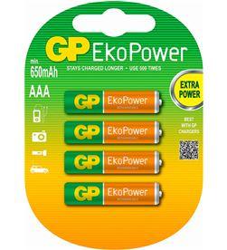 Gp LR03 AAA 650MAH pila recargable lr03 aaa 1.2v ni-mh 650mah blister de 4 unidades - +20531