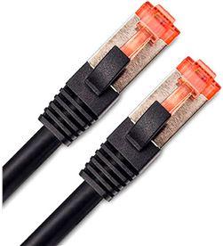 Todoelectro.es dcu cable de red cat 6a s/stp 5 metros negro conector rojo datos a alta vel 30801350 - +22138