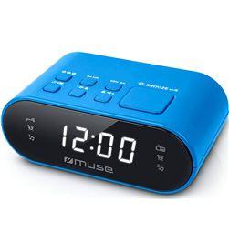 Muse m-10 azul radio despertador fm doble alarma pantalla lcd 0.6'' M-10 BLUE - +22171