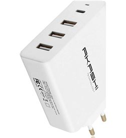 Todoelectro.es ALTACPD31USB45W akashi cargador múltiple blanco pared 6a 45w usb-c 3xusb ca - +22905