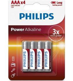 Pack de 4 pilas aa Philips LR03P4B/05/ 1.5v/ alcalinas - PHIL-PILA LR03P4B 05