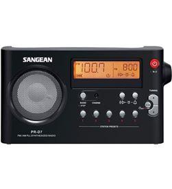 Sangean PR-D7BLACK radio am-fm digital recargable pr-d7 black - PR-D7BLACK