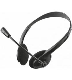 Auriculares con micrófono Trust primo chat - estéreo - micrófono flex 21665 - TRU-AUR 21665