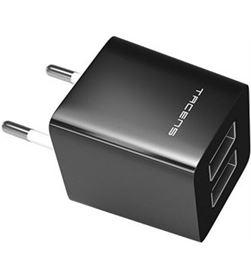 Todoelectro.es AUSB1 cargador de pared tacens anima dual negro - 2 x usb 2.0 - 100-240 vac - TAC-CARGA AUSB1