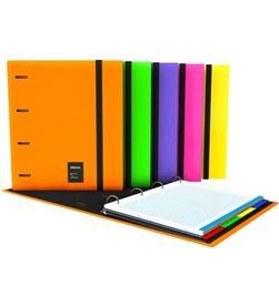 Todoelectro.es 88106035 carpeta grafoplas carpebook a4 forrado unequal fluor violeta - ani - GRA-CARP 88106035