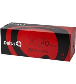 Todoelectro.es DEL-CAFE QHARACTER 40 caja de 40 cápsulas de café delta qharacter - intensidad 9 - compatible 6254023 - 6254023