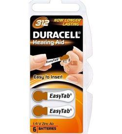 Duracell DA312 paquete de 6 pilas para audífono - 175mah - easytabs para fa - DRC-BAT DA312