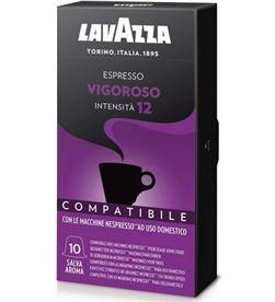 Lavazza -CAFE VIGOROSO caja de 10 cápsulas de café para espresso vigoroso - intensidad 12 8660 - LAV-CAFE VIGOROSO