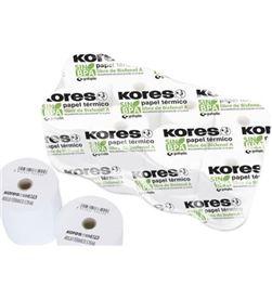 Todoelectro.es 56654300 pack 10 rollos papel térmico sin bpa kores - 57*45mm - ø12mm - KOR-PAPEL 56654300