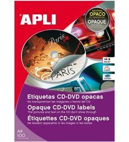 Todoelectro.es caja de etiquetas cd-dvd mega con dorso opaco que evita que se vea la serig 10166 - 10166