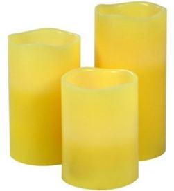 Todoelectro.es set 3 velas con luz led y aroma jocca 2276 - temporizador hasta 8h - incluy - 8435253548436